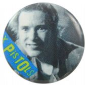 Sex Pistols - 'Johnny Blue Logo' Button Badge
